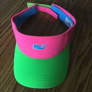 Vineyard vines visor hot pink green